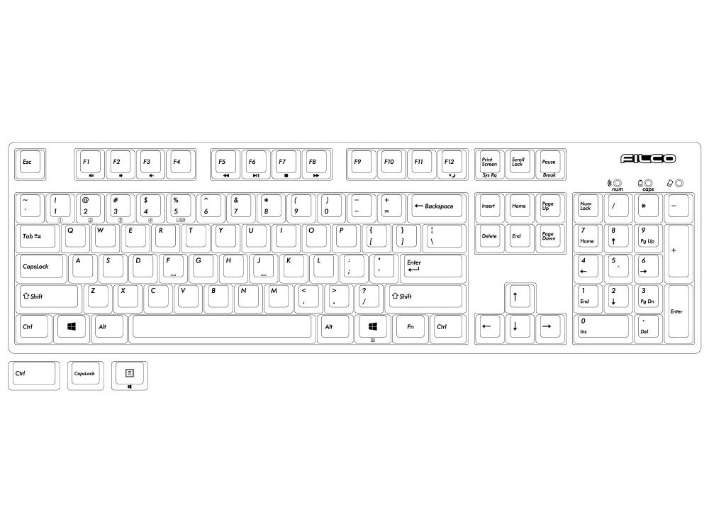 Filco Convertible 2 Soft Linear Action USA ASCII Keyboard
