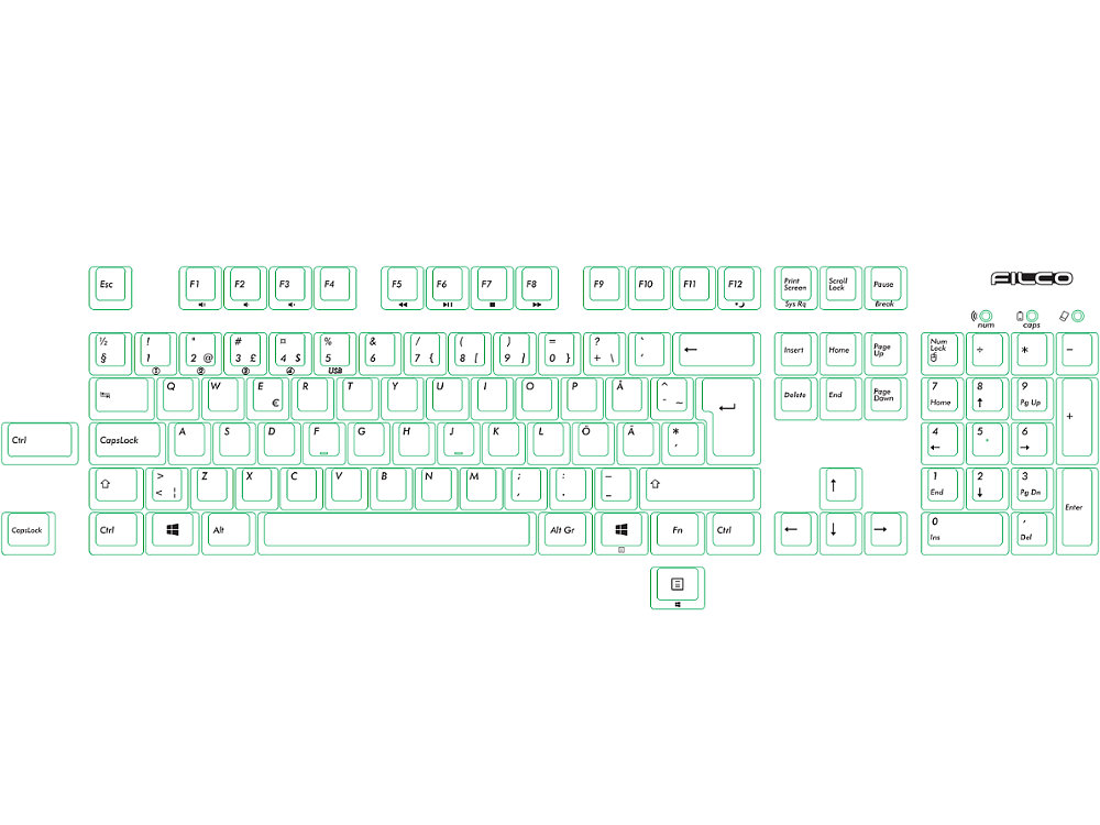 Swedish Filco Convertible 2 MX Brown Tactile Keyboard