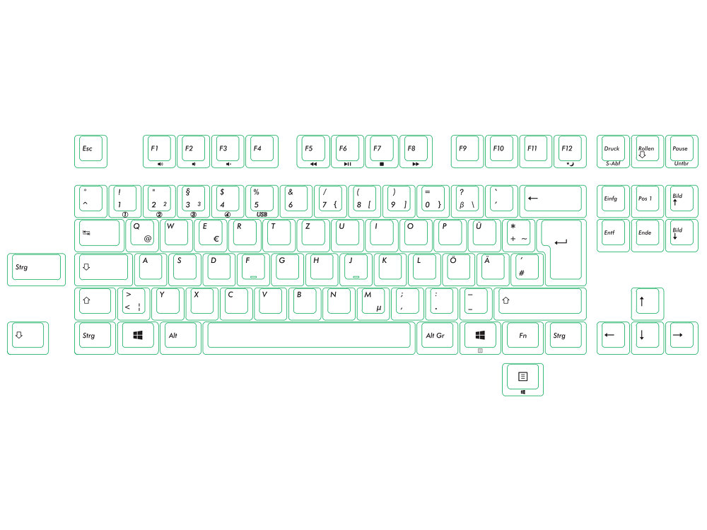 Filco Convertible 2 Tenkeyless MX Brown Tactile German ISO Keyboard