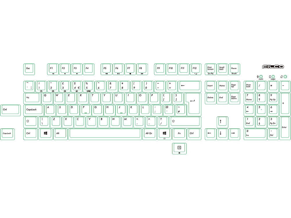 UK Filco Convertible 2 MX Blue Click Keyboard