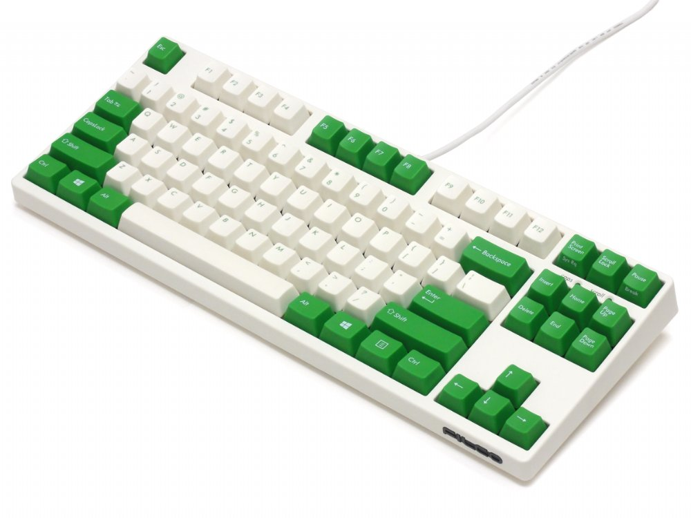 Filco Majestouch-2, Tenkeyless, NKR, Tactile Action, USA, Cream and Green Keyboard