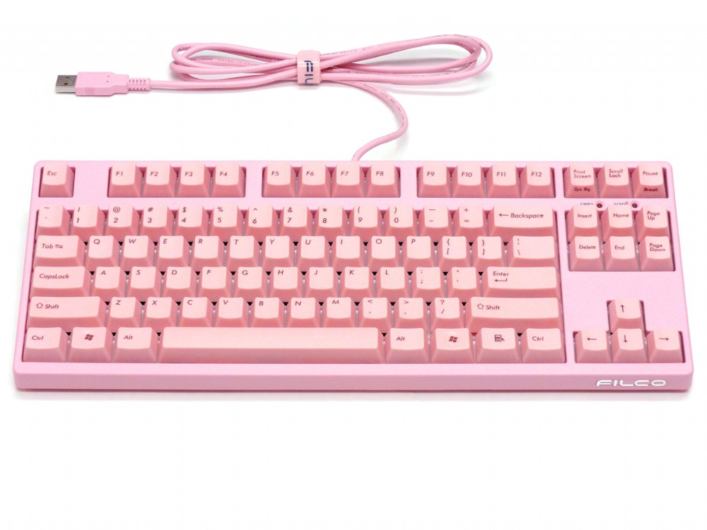 Filco Majestouch-2 Pink, Tenkeyless, NKR, Tactile Action, USA Keyboard