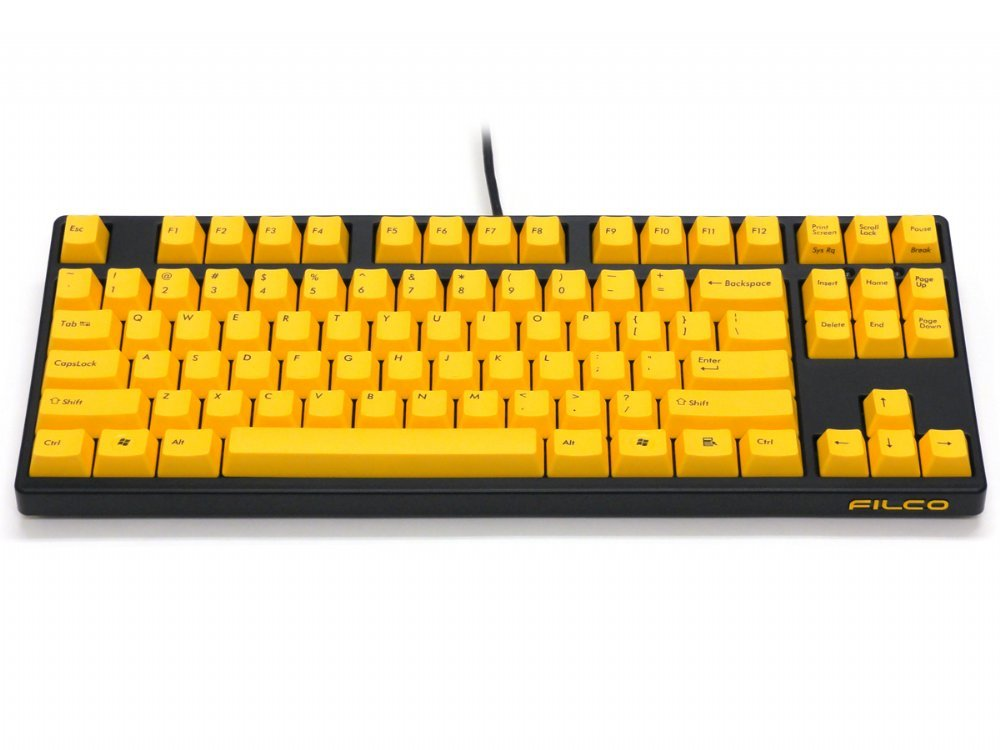 Filco Majestouch-2, Tenkeyless, MX Brown Tactile, USA, Yellow Key Keyboard