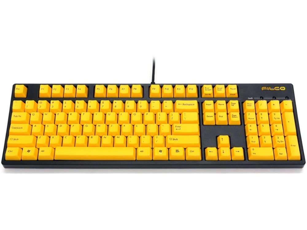 Filco Majestouch-2, NKR, Tactile Action, USA, Yellow Keys Keyboard, picture 1