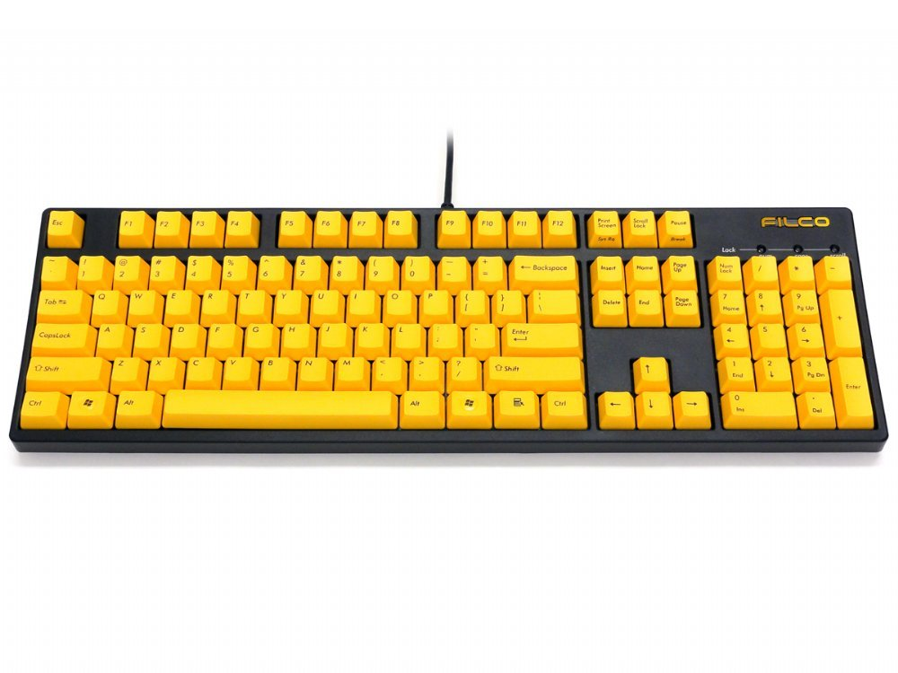 Filco Majestouch-2, NKR, Tactile Action, USA, Yellow Keys Keyboard, picture 4
