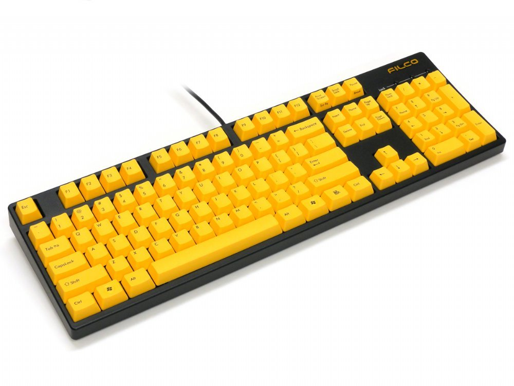 Filco Majestouch-2, NKR, Tactile Action, USA, Yellow Keys Keyboard, picture 5