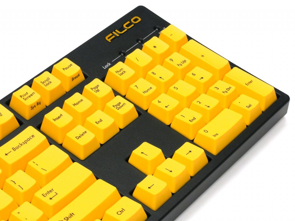 Filco Majestouch-2, NKR, Tactile Action, USA, Yellow Keys Keyboard, picture 7