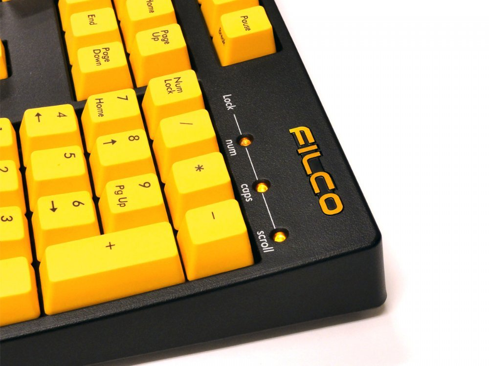 Filco Majestouch-2, NKR, Tactile Action, USA, Yellow Keys Keyboard