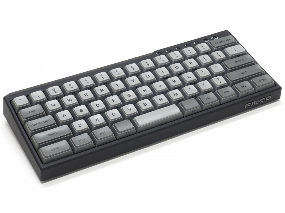 USA Majestouch MINILA-R Convertible Matte Black MX Blue Click Keyboard