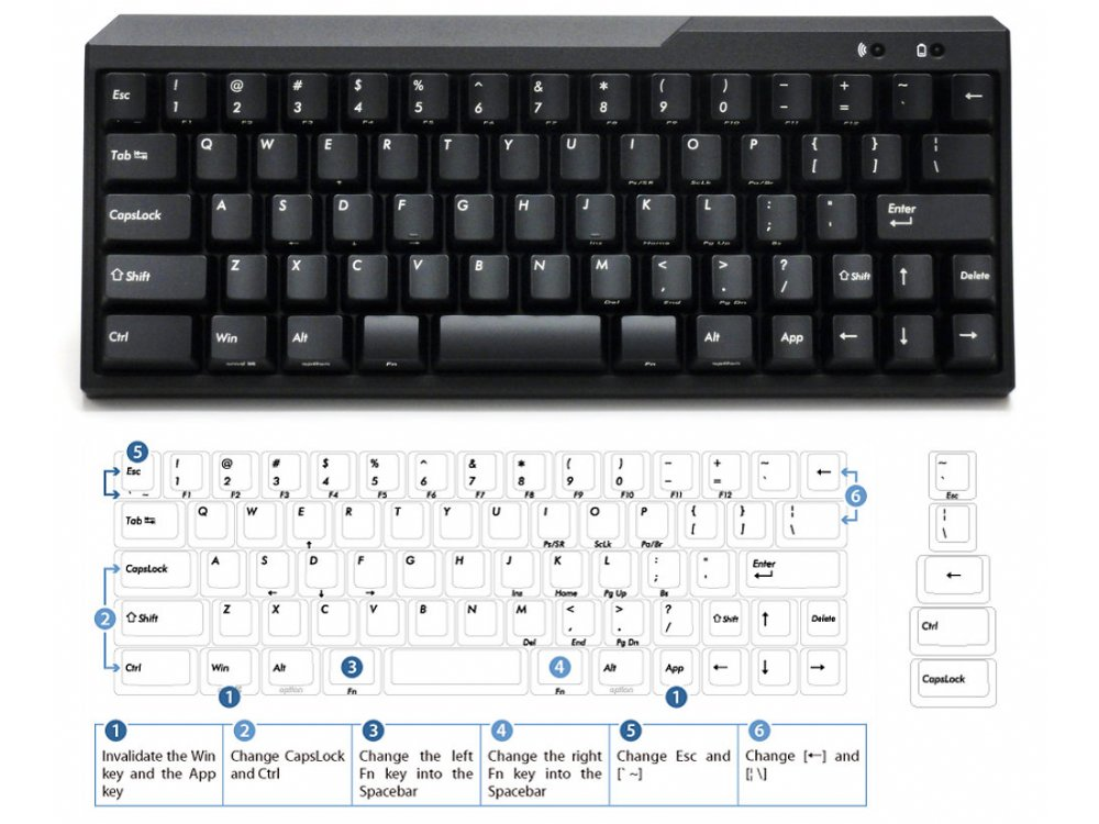 USA Majestouch MINILA Air 67 Key MX Brown Tactile Bluetooth Keyboard, picture 1