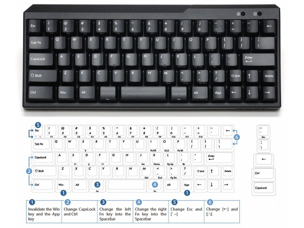 USA Majestouch MINILA 67 Key MX Blue Click Keyboard, picture 1
