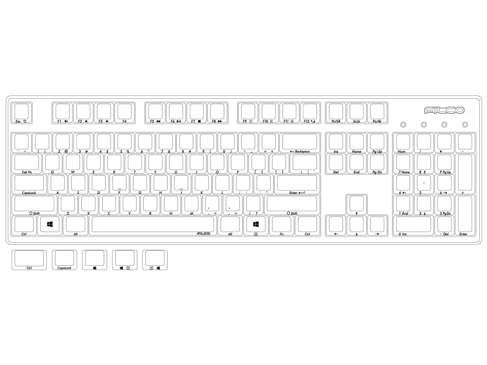 Filco Ninja Majestouch STINGRAY MX Low Profile Red Linear USA Keyboard, picture 11
