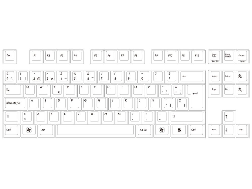 Spanish Filco Majestouch-2, Tenkeyless, MX Brown Tactile, Keyboard, picture 4