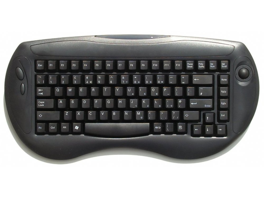 Freeboard, Mini, Wireless, Black, USB Keyboard with built in Trackball, picture 1