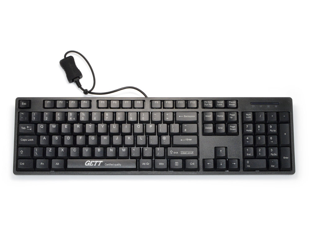 GCQ CleanType Easy Basic Black Keyboard, picture 1