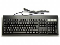 German (QWERTZ) AT (5 Pin DIN) Keyboard, Black