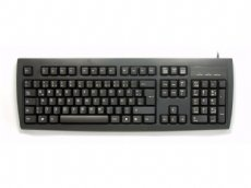 German (QWERTZ) keyboard, black, PS/2