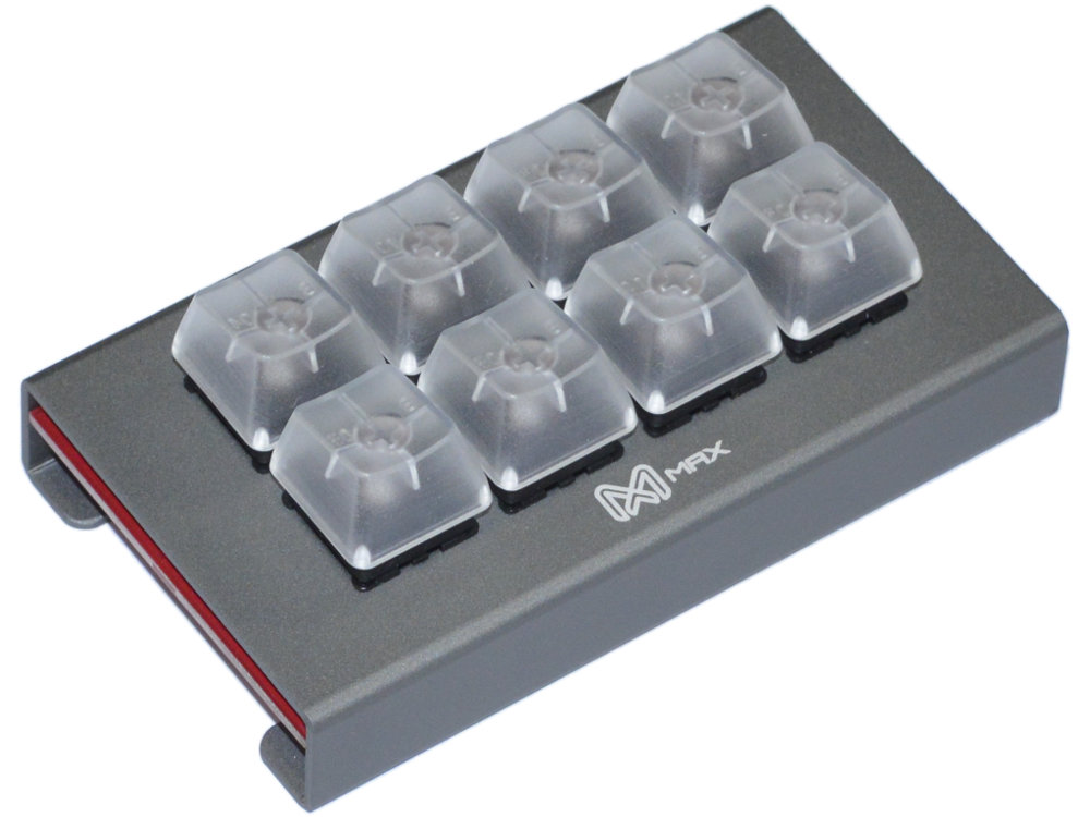 Falcon-8 Assembled Grey Programmable Mini 8-Key Tactile Pad, picture 1