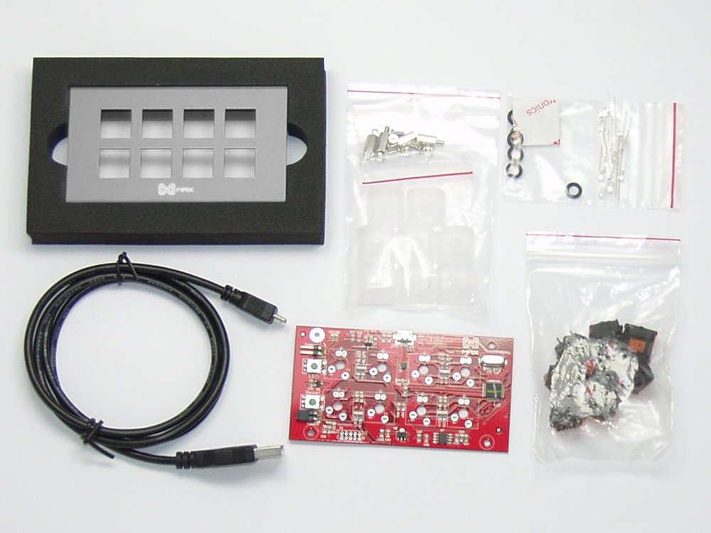 Falcon-8 DIY Grey Programmable Mini 8-Key Tactile Pad, picture 1