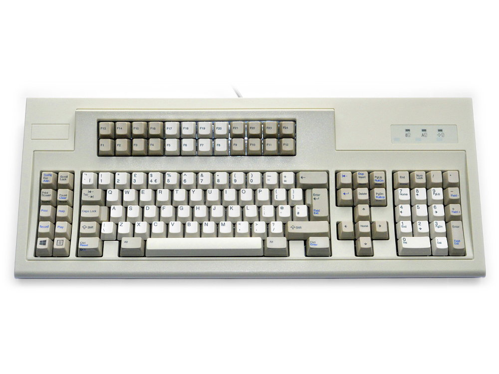 UK Original IBM Style 122 Key Keyboard Beige USB