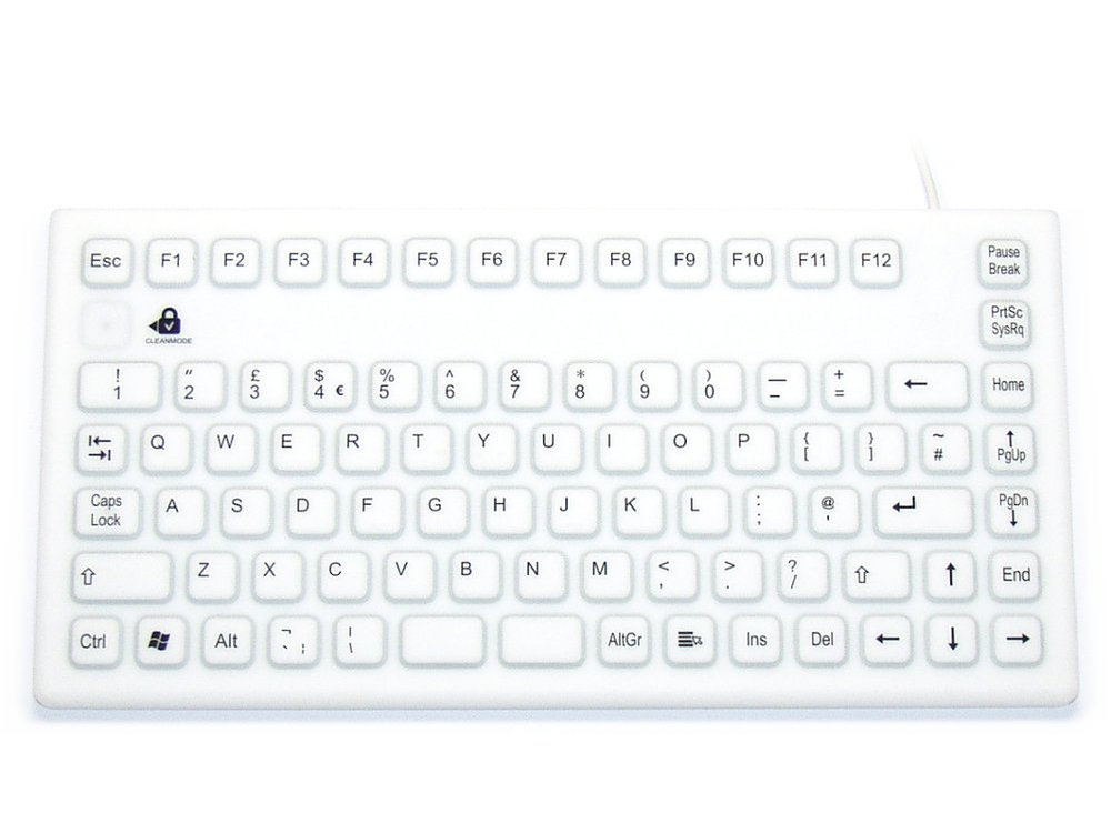 InduKey Smart Clinical Board Compact Keyboard White IP68