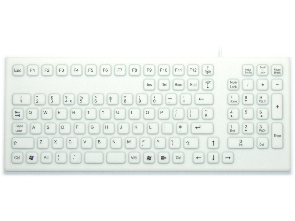 InduKey Smart Clinical Board Keyboard White IP68, picture 1