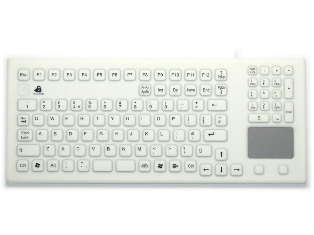 InduKey Smart Clinical Board Touchpad Keyboard White IP68