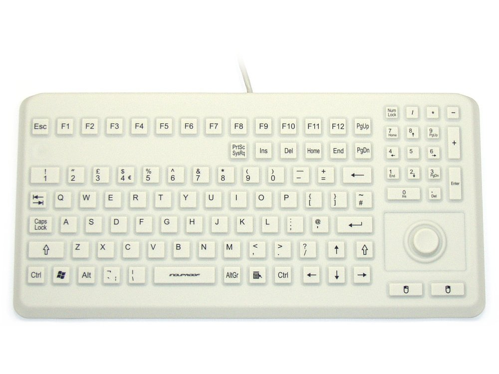 InduKey Induproof Advanced - Compact Silicone Keyboard with Mouse Button IP68, picture 1