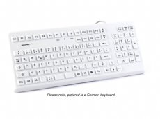 InduKey Induproof Med - Antimicrobial Compact Silicone Keyboard IP68 Grey