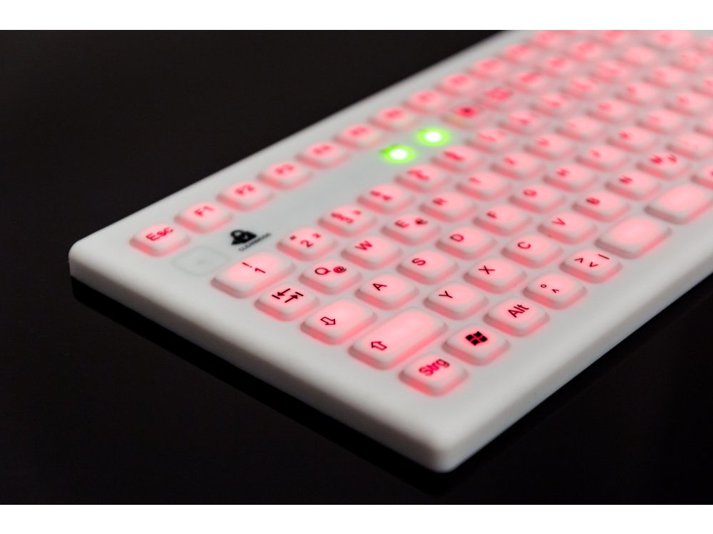 InduKey InduProof Pro - Magnetic Backlit Silicone Keyboard with Touchpad IP68