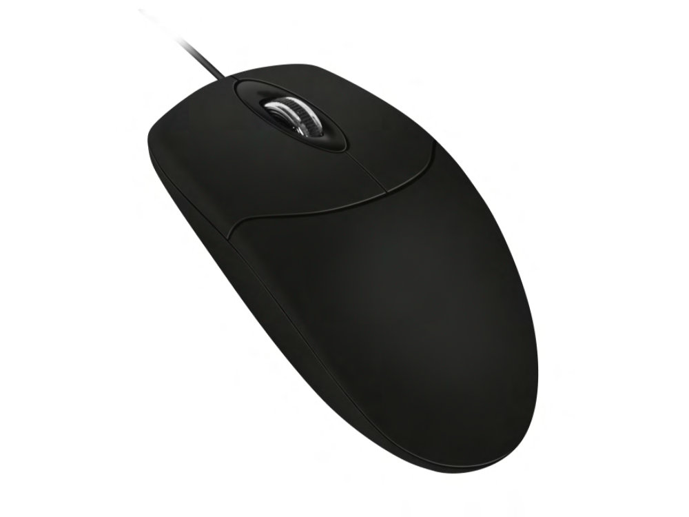 IP68 Washable Scroll Wheel Mouse Black