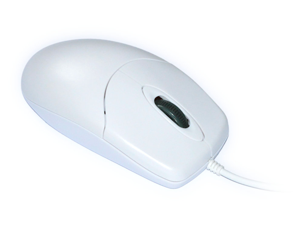 IP68 Washable Scroll Wheel Mouse White