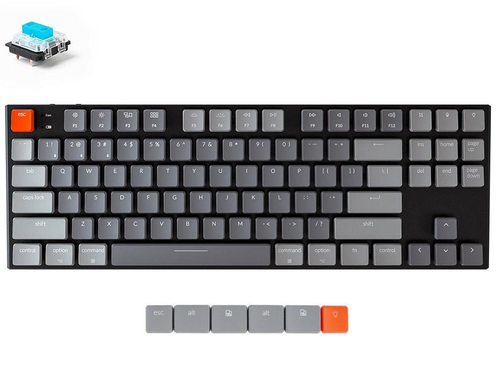 USA Keychron K1 Bluetooth RGB Backlit Click Aluminium Mac/PC 87 Key Keyboard