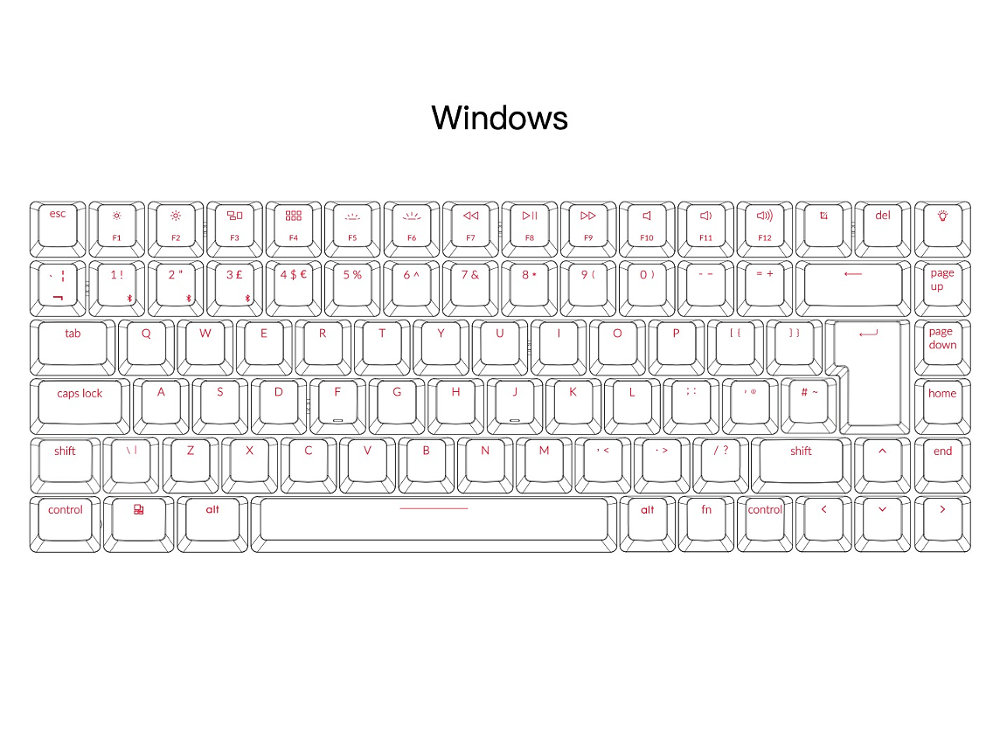 UK K2 Convertible Backlit Tactile Mac Keyboard