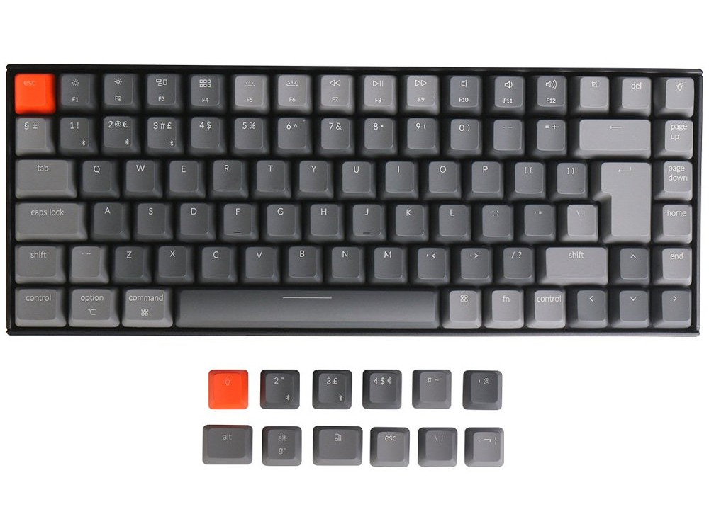UK K2v2 Convertible Backlit Tactile Mac Keyboard