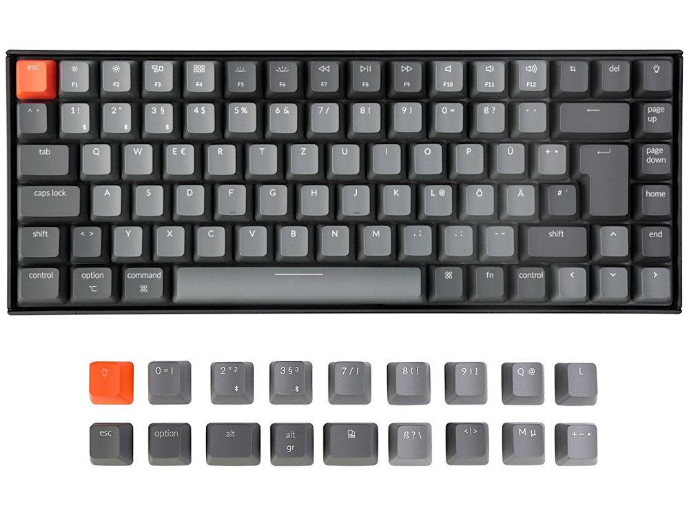 German Keychron K2v2 Bluetooth RGB Backlit Linear Mac Keyboard