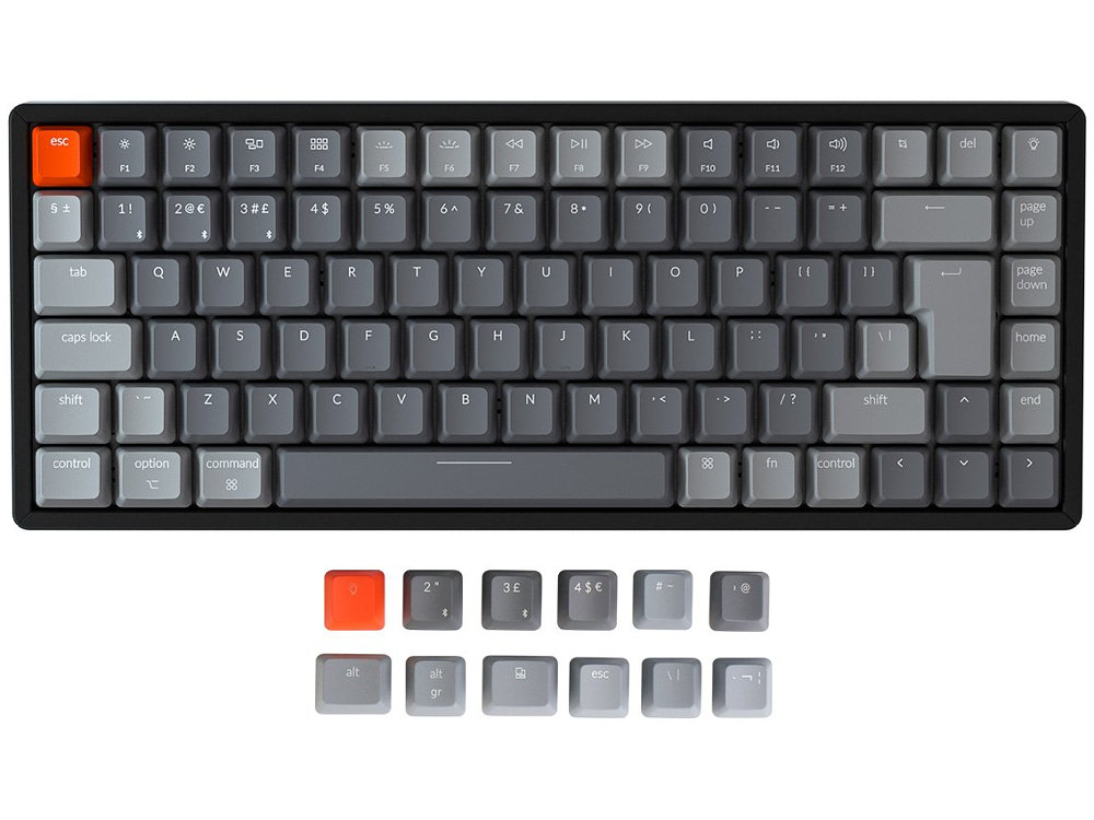 UK Keychron K2v2 Bluetooth RGB Backlit Linear Aluminium Mac Keyboard