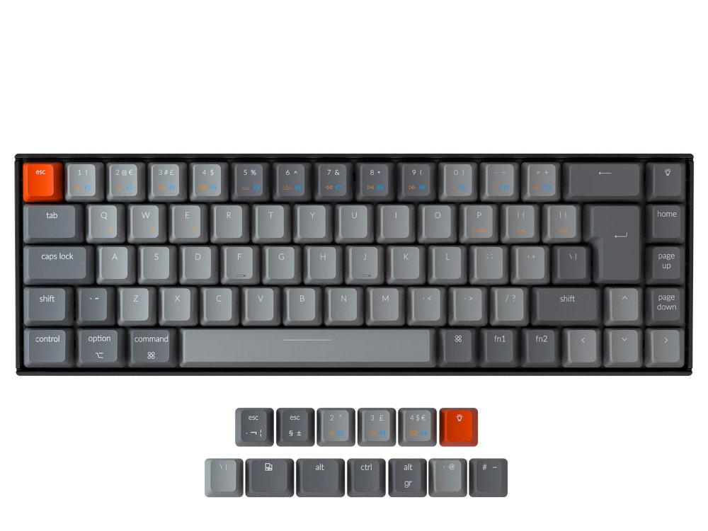 UK Keychron K6 Bluetooth RGB Backlit Linear Mac 65% Keyboard