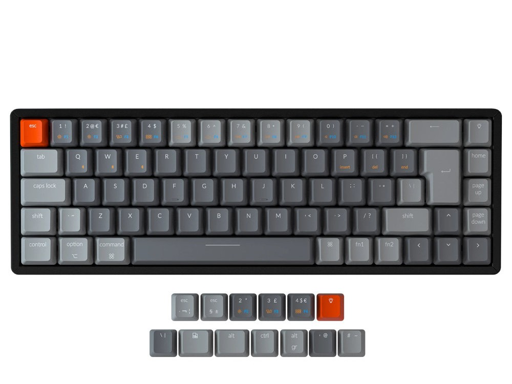 UK Keychron K6 Bluetooth RGB Backlit Tactile Aluminium Mac 65% Keyboard