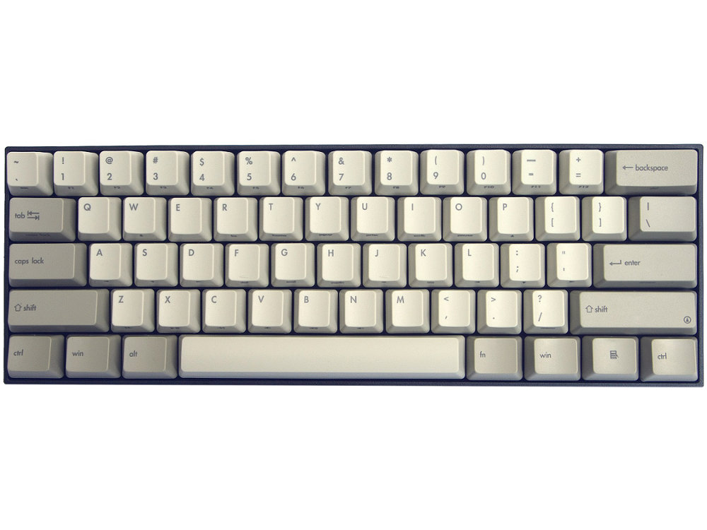USA V60 Vintage 60% Matias Quiet Linear Keyboard
