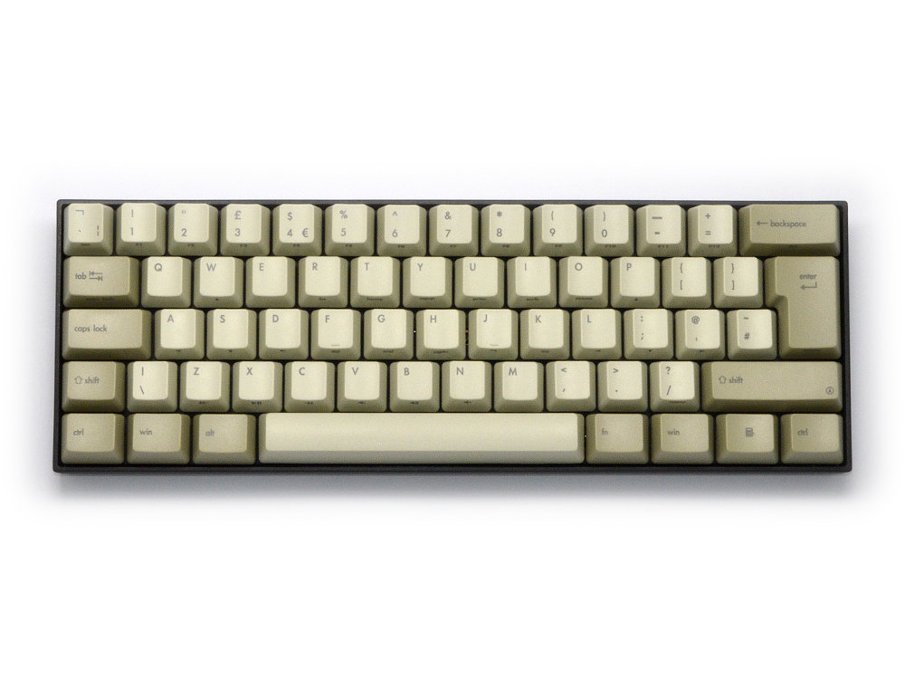 UK V60 Vintage 60% MX Brown Tactile Keyboard