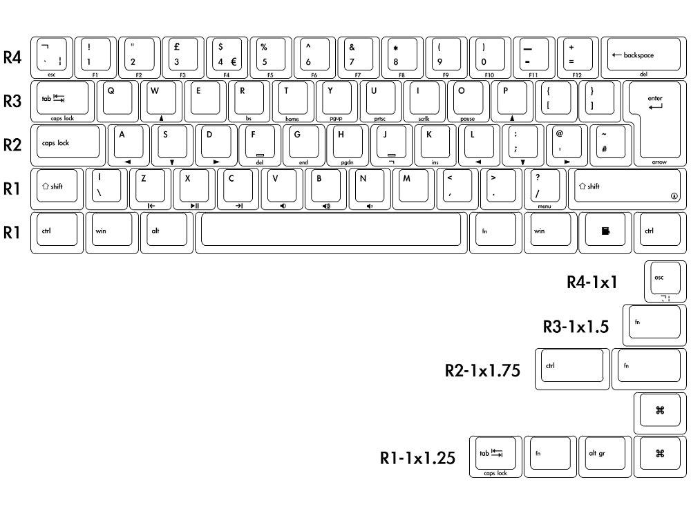 UK V60 Vintage 60% Tactile Keyboard