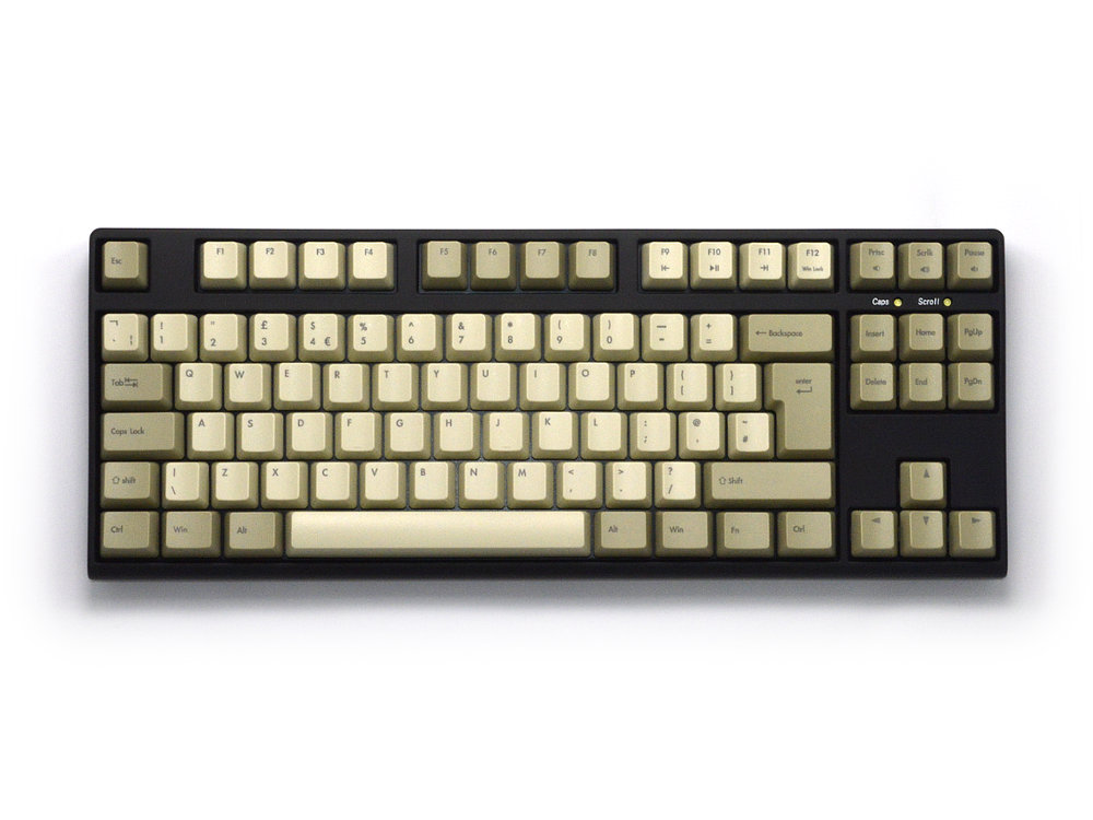 UK V80 Tenkeyless Matias Quiet Click Vintage Keyboard