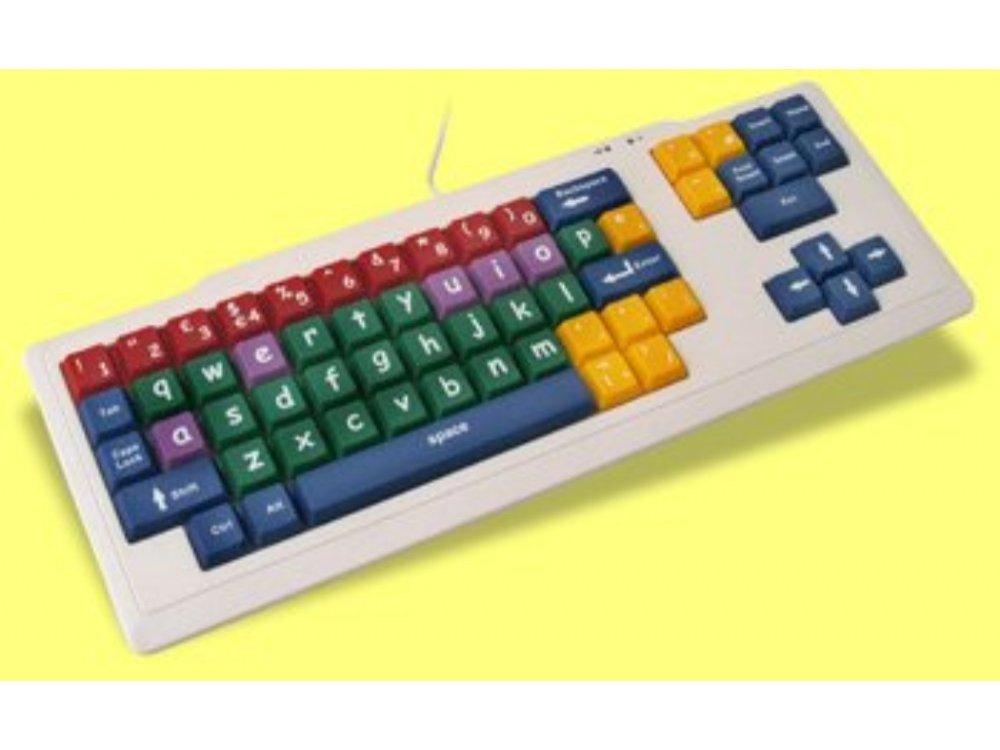 Large Key Keyboard, 1 Inch, Multi Coloured, Lower Case Keys