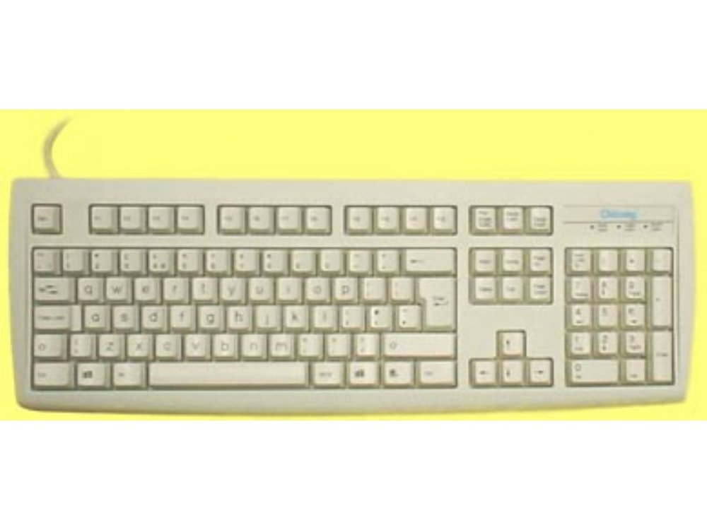 Standard keyboard with lower case legends