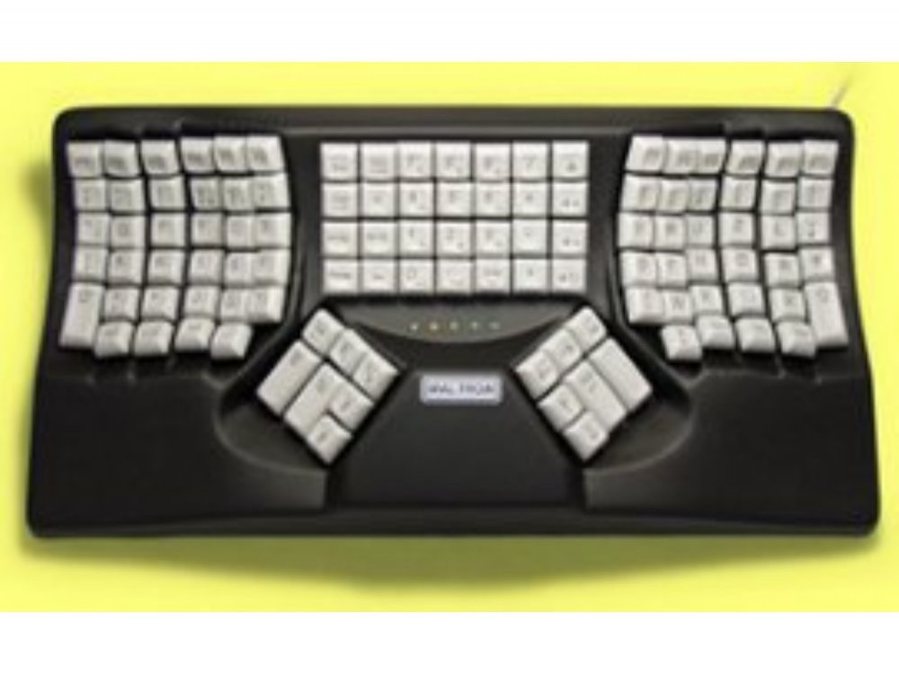 Maltron, Original, Ergonomic Two-Handed Keyboard Black Mac