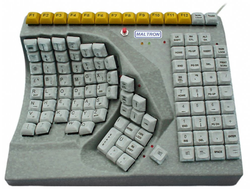 Maltron, Ergonomic, Single Left-Handed Keyboard, USB, picture 1
