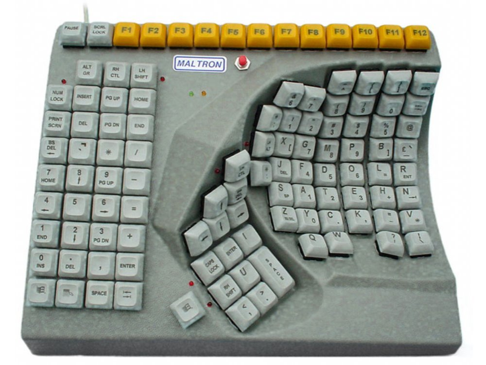 Maltron, ergonomic, single right-handed keyboard USB