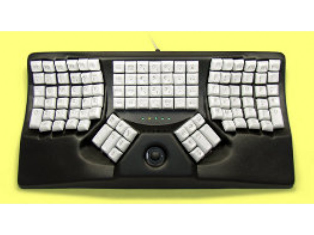 Maltron, Ergonomic Two-Handed Trackball Keyboard Black Mac, picture 1