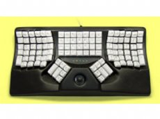 Maltron, Ergonomic Two-Handed Trackball Keyboard Black Mac